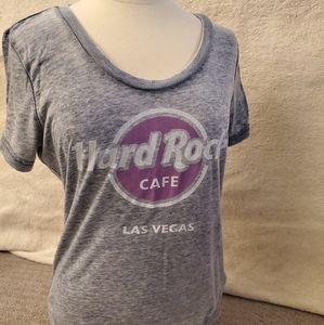 Classic Hard Rock T, soft, scoop neck Vegas